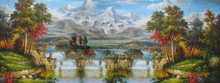 fantasy landscapes art landscape oil painting