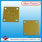 Custom gold metal tag medal metal plate name plate metal logo for garment