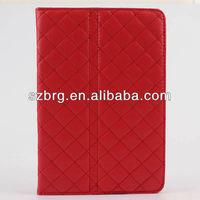 hot sale fashion grid leather case for iPad mini