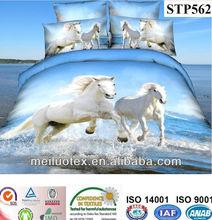 animal horse 3 D Bedding Cotton Duvet Cover Bed Set