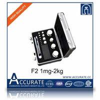 F2 customized laboratory slotted weight set black aluminum box