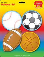 Large Sports Notepad Set