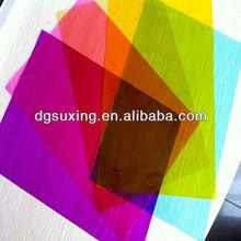 Colorful PVC cover plastic sheet
