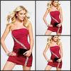 Sexy Red Strapless Designer Inspired Beaded Satin Girls Party Dress Junior Dress Cocktail 2014 C145