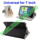 Adjustable Belt Leather Cover for 7 inch Tablet with Elastic Hand Strap and Buckle