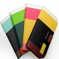 Hot Selling Leather Flip Case For Samsung Galaxy S4 Mini I9190 Wallet Case With Card Holder