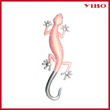 "16"" beautiful pink gecko metal craft home decoration wall art"