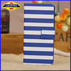 Fashion Design White and Blue Stripe Hard Case for iphone 5 5S 5C