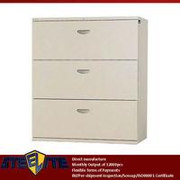 home furniture bedroom storage chest of drawers/hospital used metal 3 drawer cabinet sale/metal 3 drawer pedestal filing cabinet