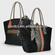 2013-2014 New fashion handbags black designer leather totes