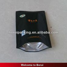 aluminum foil custom printed ziplock bag with tear notch