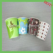 Melhor preço de venda natureza único copos de papel de parede para cappuccino