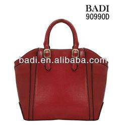 elegant big tote leather handbag ladies handbags with black edge stain