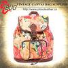 Fashionable vintage canvas school student backpack rucksack bag for girls