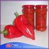 Factory direct canned red pepper / chilli strips in brine