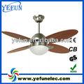 """Yf42- 4cl( sn) 4 madeira lâmina 1 luz 42"""" ventilador de teto decorativo"""