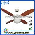 """Yf42- 4cl( tão) 4 madeira lâmina 42"""" ventiladores de teto decorativos com luzes"""