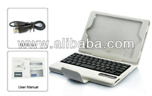 Wireless Detachable Keyboard and Case for iPad Mini(White)