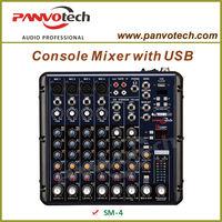 Panvotech 4 channel karaoke echo mixer with USB SM-4