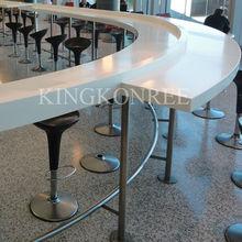 Acrylic solid surface white lacquer reception desk,mobile reception desk