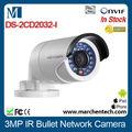 Bas prix hot vendeur 3 mégapixels caméra réseau hikvision ir. balle. ds- 2cd2032- je en stock