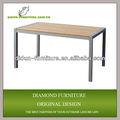 Novo design! Mobília ao ar livre resistência às intempéries fotos de mesa de madeira