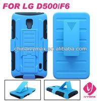 heavy robot case for LG F6/D500 hybrid combo case