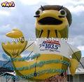 Gigante de publicidade/comercial/promocionais/exposição de desenhos animados infláveis/peixe inflável