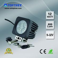 New 12W Working Lamp Leds Emergency Light For Truck Jeep Light ATV UTV SUV Headlight Toptree No.312