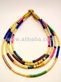 dichiarazione collana cordone di seta con placcatoin oro perla