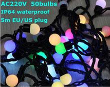 AC220V rgb IP64 waterproof led decoration christmas tree lighting bulb