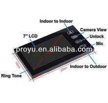 Hands free intercom wireless video door phone PY-806M11
