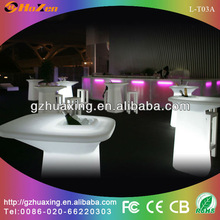 outdoor bar table led illuminated table L-T03A with waterproof