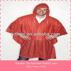 Fashion Red rain poncho, Waterproof , Rainwear, Raincoat