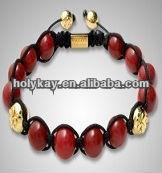 2014 bracelet made with beads, Inspired red jade woven bracelet, popular fashion barcelet for womene