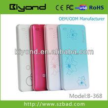 ultra thin mini design plastic case for ipod power bank
