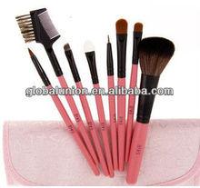 Makeup Brushes Set 8 pcs Pink Makeup Tool Kits with Pink Makeup Bag