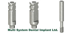 Dental implant Transfer for Open or Close tray internal hex connection