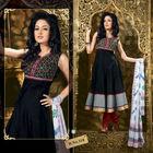 Black Maroon Cotton Anarkali Salwar Kameez Collection