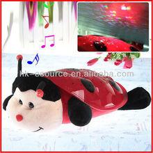Ladybird nightlight music stuffed animal