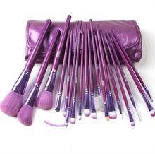 pink/brown/grey/purple 18pcs makeup brushes professional