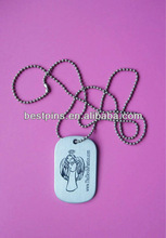 metal silver pet tag, dog tag, id tag with own logo stamp (AML-DT-131022-215)