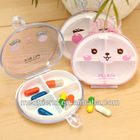 Cute Little Rabbit Pill Box with 4 -compartments