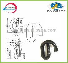 Elastic metal clip spring for railway