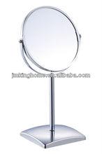 chrome framed silver bath mirror