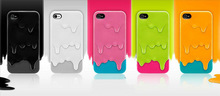 Colorful 3D Melt ice-Cream Hard Cover Case For iPhone 4/4S