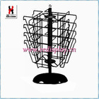 Steel Revoling Power Coated Card Display Holder/Rotating Greeting Card Display Stand