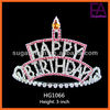 Happy Birthday colorful rhinestone crown and tiara