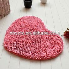 Heart shaped water absorption floor mat / non-slip sofa mat / door mat