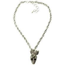Fashion alloy girls cheap halloween skull necklace